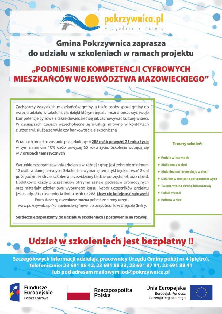 plakat informacyjny projektu