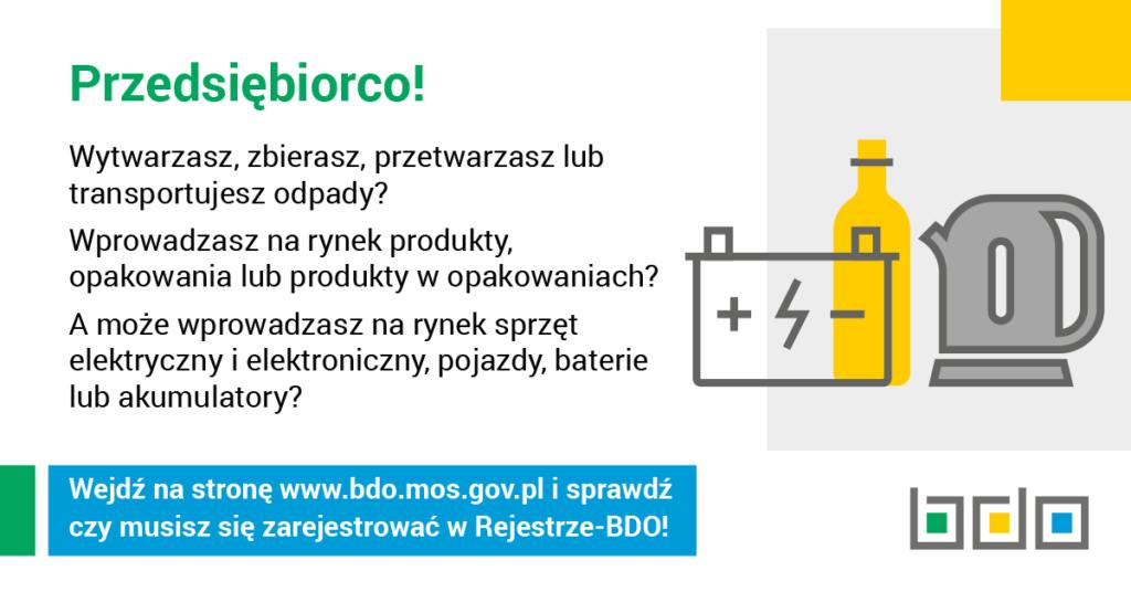 Informacja o rejestrze BDO