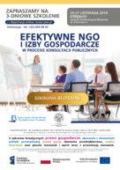 """Bezpłatne szkolenie """"Efektywne NGO i Izby Gospodarcze"""""""