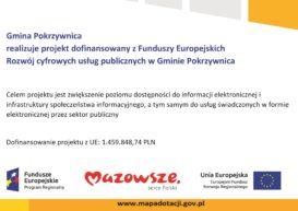 """Realizacja Projektu""""Rozwój cyfrowy usług publicznych w Gminie Pokrzywnica"""""""