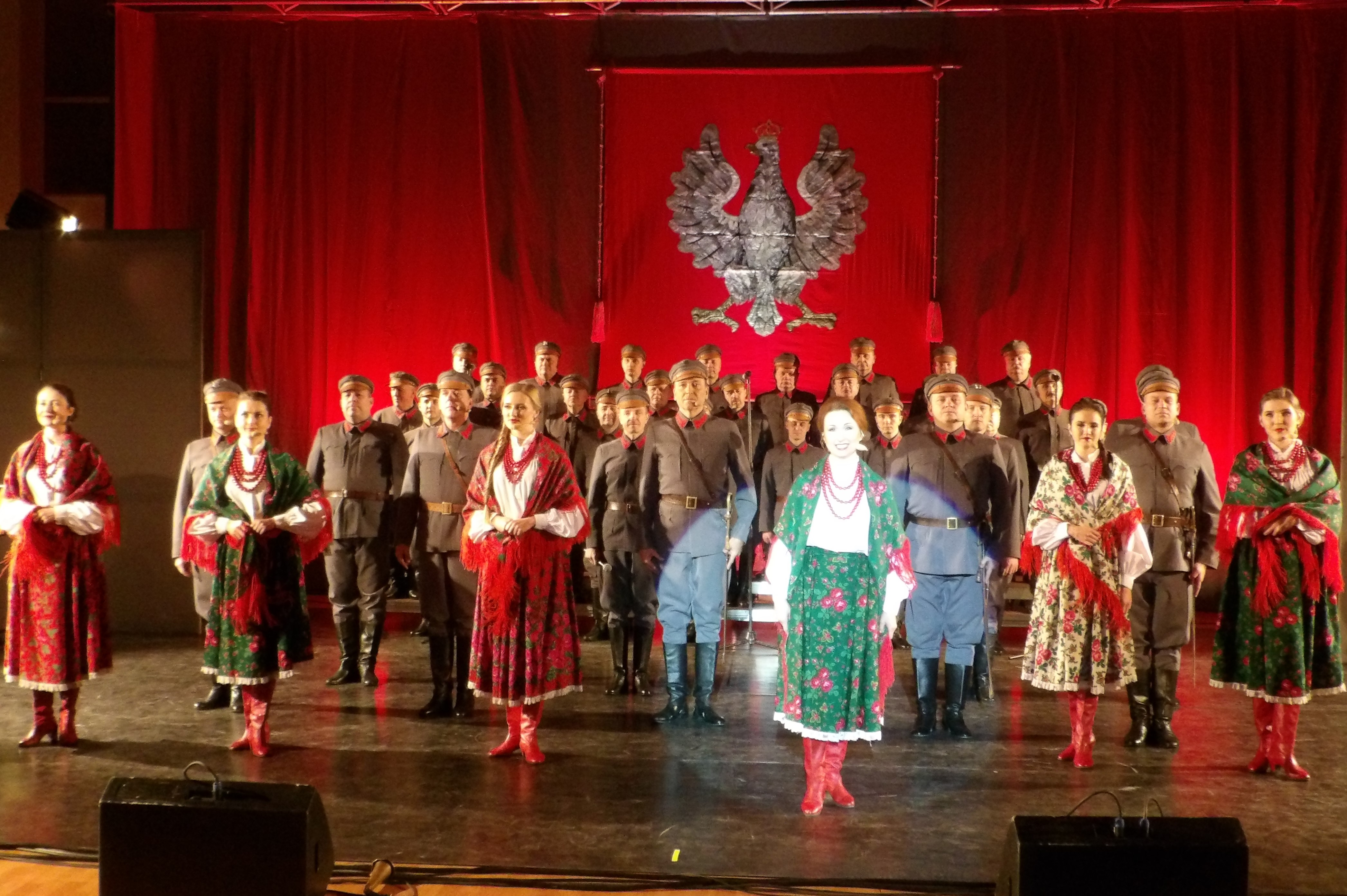 Koncert Reprezentacyjnego Zespołu Artystycznego Wojska Polskiego w Dzierżeninie