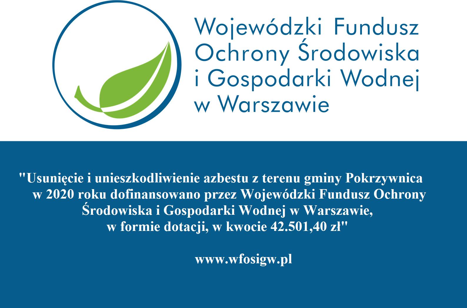 Usunięcie i unieszkodliwienie azbestu z terenu gminy Pokrzywnica w 2020 roku