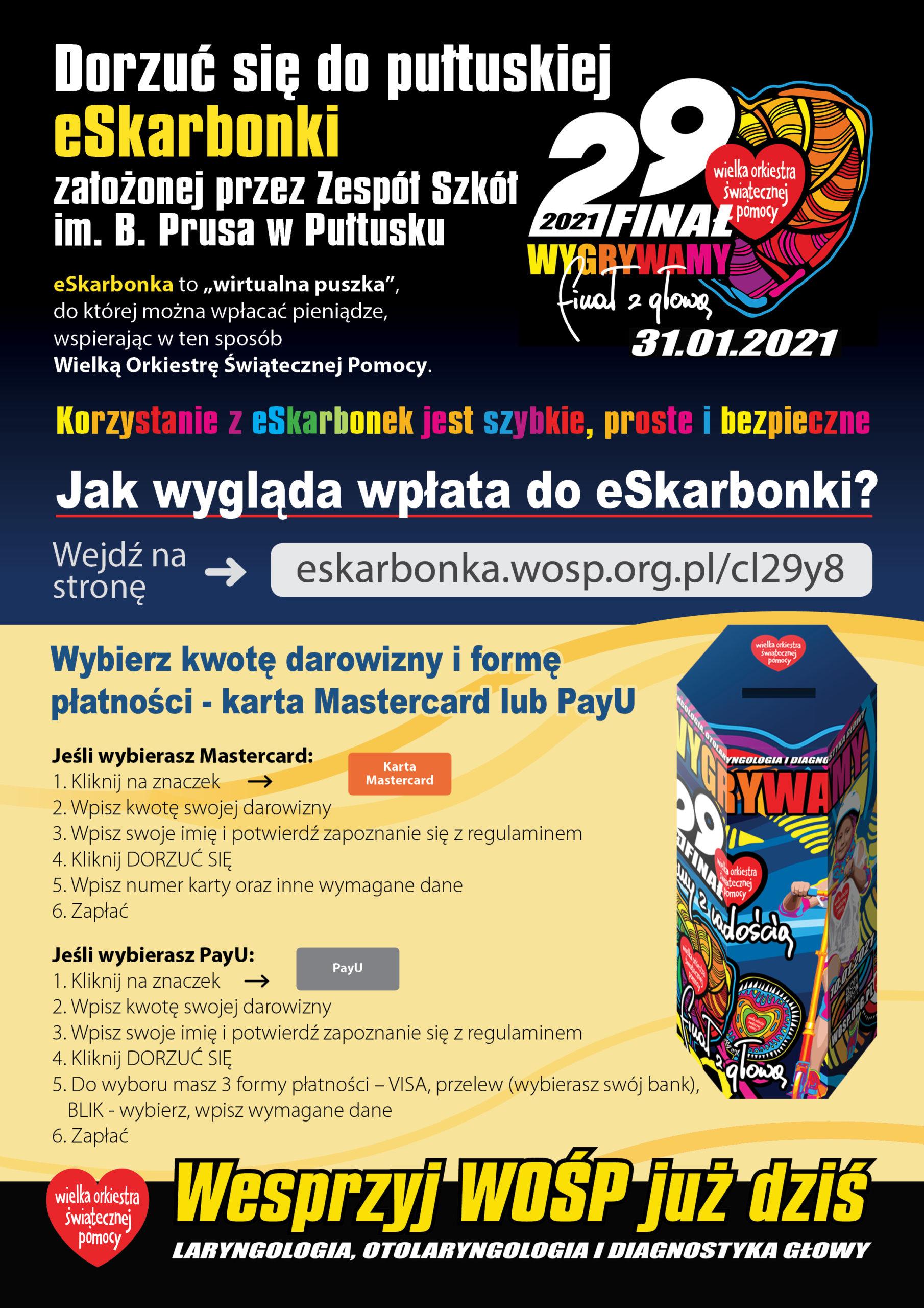 29. finał WOŚP – pułtuska e-Skarbonka