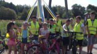 """Pierwsza wycieczka rowerowa z dziećmi z cyklu ,,Poznajemy nasza gminę""""."""